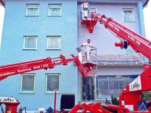 Fassadenarbeiten im Außenbereich
