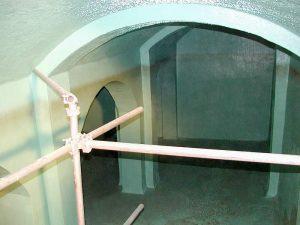 Trinkwasserbehälter Decke und Wände (Vorfluter)